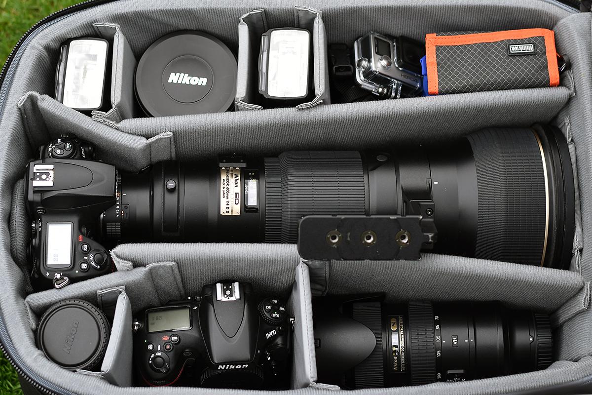 Think Tank Airport Security V2.0 mit Nikon Ausrüstung